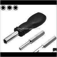 Destornilladores 3 en 1 3DOT8 4dot5 mm Destornillador de seguridad Herramientas de reparación de bits para consola y mango de extensión magnética hexagonal negro W4NH9 V47EX