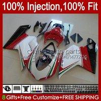 Injection Fairings For DUCATI 848 1098 1198 S R 848R 1198R Bodywork 18No.23 848S 1098S 2007 2008 2009 2010 2011 2012 1098R 1198S 07 08 09 10 11 12 Red black new OEM Body Kit