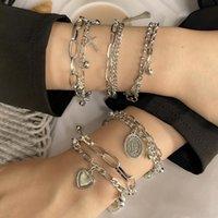 Charm Bracelets Bohemian For Women Fashion Multilayer Beaded Chain Set Bracelet Bangles Jewelry Punk