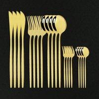 DHL YEMEĞİ 20 ADET Çatal Paslanmaz Çelik Sofra Kek Çatal Bıçak Seti Yemek Ev Sofra Takımı Modern Altın Ayna Çatal Seti1