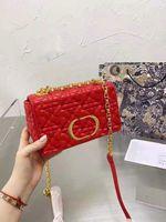 2021 Eine Mode Brieftasche Tasche Classic Marke Luxus Design Frauen Handtasche Multicolor Flower Flip Gold Kette Kleiner Messenger original