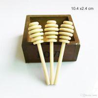 Рестораны 10,4 см Деревянные медовые палочки Медовые Ковбищичные вечеринки Поставка деревянная ложка для медовой банку Длинная ручка Смесительная палка