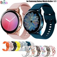 silicone Original 20mm band Strap For Samsung Galaxy Watch Active 2 40 44mm   3 41mm smartwatch wristband For Huawei GT 2 42mm