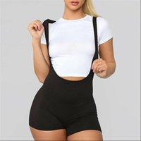 Fashion Casual Seamless Spandex Solid Women Jumpsuit Summer Racerback Catsuit Bodysuit Bib Pants Rompers Trousers