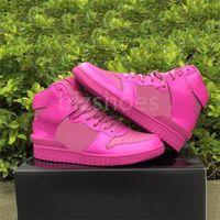 كمين x عالية الأحذية الرياضية السوداء القاتلة الوردي الرجال سكيت رياضة المرأة الكونية الفوشيه حذاء كرة السلة