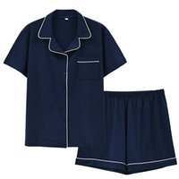 Pajamas Sleepwear clothing short set sleeved shorts pants are suitable for cotton casual women's wear
