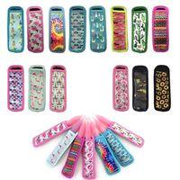 DHL Neopren Popsicle-Ärmeln isoliert einfrieren Icypole-Halter für Kinder Sommer-Kaktus-Sonnenblumen-Dog-Tie-Farbstoff 14 Farben