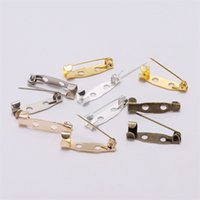 50 pcs / lote 15 20 25 30 35 40 45mm broche clipe base pinos de segurança configurações de broche Base em branco para diy jóias fazendo suprimentos 784 T2