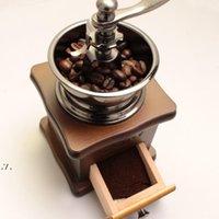 Mini retro amoladora de café manual de madera vintage de madera frijoles molinos molinos de cocina herramientas de molienda perfumería cafe bar hecho a mano café rrd11126