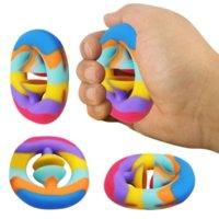 Fidgets Anel Anel Anel Anel de Alívio Stress Brinquedo Sensorial Para Autismo Necessidades Especiais Ansiedade Reliever Grip Ball Figet Brinquedos