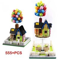 Suspended Gravity Balloon Flying House Building Blocks Creativeal Sculptur Dynamic Physics Balance Novel Toys for Kids Gifts