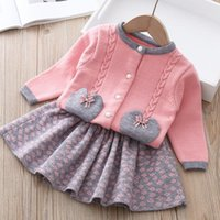 Clothing Sets Autumn Winter Christmas Pullover Girls Baby Children 2021 Knitted Sweater Outfit Suits Long Sleeve Kids Tracksuit