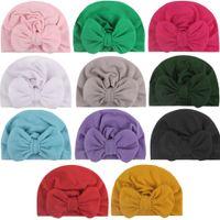 للجنسين لطيف الطفل لينة حريري التحوط قبعات مع الانحناء الكبيرة الخريف الشتاء الدافئ كيد قبعة الوليد قبعة مختلطة الألوان