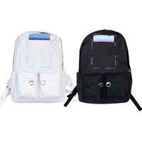 Zaino Off Brand Canvas Backpacks bianco Uomo Hip Hop Fashion Street Style Skate / Pallacanestro / Calcio / Ciclismo / Borse da corsa