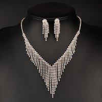 Earrings & Necklace Jewelry Accessories,Fashion Sets. Bridal Jewelry, Wedding Jewelry, Zircon Set