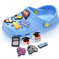 Black cute cartoon PVC Shoe Charms Shoes Buckles Action Figure Fit Bracelets Croc JIBZ Shoe's accessories Wristband girls Boys kids Gift
