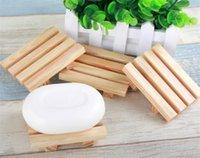 Toptan Bambu Sabunluk El Yapımı Banyo Tutucu Doğal Ahşap Tepsi Güverte Küvet Duş Yemek, Mutfak için Craft