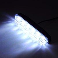 Nödlampor 2x Xenon Vit 6 LED Super Ljus DRL Dagtid Running Drive Dimlampor Vattentät fordonslampa