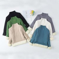 Pullover EuerDoDo Autumn Children's Sweater Knitted Baby Girl Winter Clothes High Collar Boy Tops Casual Knitwear