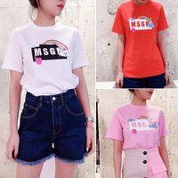 Mode Herren Msgm Star derselbe Brief gedruckt Kurzarm-T-Shirt für Männer und Frauen