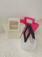 Pearl Girls Bording Tote Handmade Daily Colorato Borsa Pink Bag Crystal Pochette Donne Party Pet Handbag Acrilico Jhhap