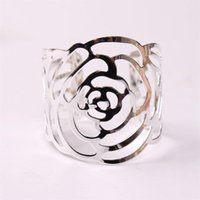 Anillos de servilleta de boda Titulares de metal para cenas Party Hotel Decoration Supplies Supplies Buckle GWE5930