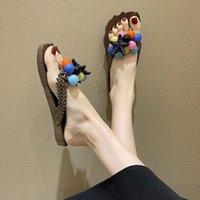 Hausschuhe Leosoxs Frauen Sommer Mode Flip Flops Strand Schuhe flache weibliche Folien Outdoor Freizeit Startseite Sandalen