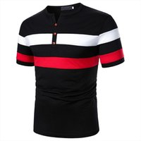 최고 품질의 성격 셔츠 짧은 남자 폴로 소매 캐주얼 슬림 패치 워크 비즈니스 남자 의류 Blusas Homme 탑스