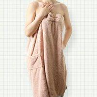Asciugamano 2021 Bella Chic Donne Soft Bath Bath Cotton Accappatoio Peluche Bamboo Bagno Spa Adulto