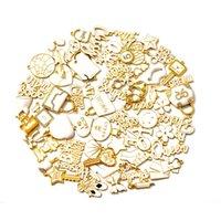 60 pcs liga jóias encantos com ouro banhado e esmalte colorido misturado apto delicado para mulheres