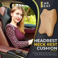 Pillow Car Neck Adjustable Head Restraint 3D Memory Foam Auto Headrest Travel Support Holder Seat Cover Dropship