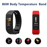 B6W Body Temperature Measurement Smart Wristbands Outdoor He...