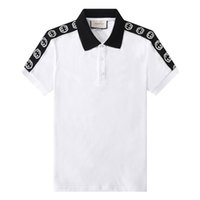 Desligue Verão Mens Designer T-shirt Colar Letras de Abelha Bordada Polos De Moda Para Homens Manga Curta Homens Casuais Designer Polo Camisa