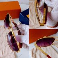 5A High-end Güneş Gözlüğü Erkek Bayan Tasarımcı Sunglass UV 400 Parlak Tasarım Erkekler Kadınlar Için Moda Severler Tüm Maç Turuncu Polarize Işık Güneş Gözlükleri Ile Kutusu L753-01