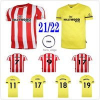 2021 2022 Брентфорд Футбол Джетки Дасильва FORSS WISSA MBEUMO TONES ONYEKA AJER CANOS JENSEN JANSSON CONSTOM 22 22 HOME OUT RED желтая футболка
