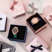 선물 상자 패션 선물 시계 케이스 벽지 패턴 게인 Bowknot 장식 상자 포장 케이스 기념품 가방 사용자 정의 로고 WMQ989