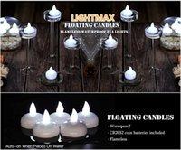 Luz nocturna impermeable Lámparas flotantes sin fisuras, parpadeo de batería Luces de té LED velas para la fiesta de bodas Pool Spa Spa Inicio Decoración al aire libre