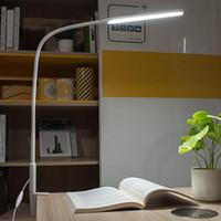 아트 패드 12w 침실 사무실에 대 한 긴 팔 테이블 램프 3 색 온도 데스크 stepless 디밍 클립 온 화이트 USB 램프 읽기