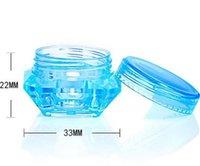 Viagem cosméticos frascos vazios forma diamante forma recarregável creme de creme subpackage caixa de armazenamento de saco de amostra 3g 5g lle7107