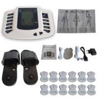 전기 근육 자극기 전신 펄스 펄스 수용 테라피 마사지 기계 + 12 전극 패드 침술 마사지 기계