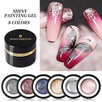 Nail Gel BORN PRETTY 5g Glitter Shining Painting Metallic Polish Art Soak Off UV LED Varnish For Manicure DIY