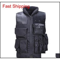 Vests Clothing Gear Mens Tactical Army Hunting Molle Airsoft Outdoor Body Armor Swat Combat Paill Black Vest For Men Drop Delivery 202