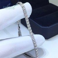 Inbeaut النساء وصول 925 الفضة ممتازة قطع إجمالي 5 ميجا تي تي د اللون تمرير الماس اختبار مايكرو مويسانيت البقر رئيس الخرز سوار