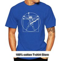 Men's T-Shirts Vitruvian Guitarist Mens Funny Guitar T-Shirt Electric Bass Acoustic Amp Player Tee Tshirt
