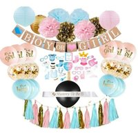 Party Decoration Boy Or Girl Gender Reveal Set Balloons Arch Garland Kit Foil Metallic Fringe Curtains Balloon