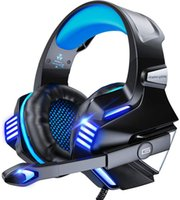 Gaming Headset for PS5  PS4  Xbox One PC, Noise Canceling Over-Ear Headphones with Mic, LED Lights & Volume Console for Xbox 1 S X, Playstation 5 4 Slim Pro, Switch