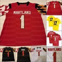 Custom Maryland Terrapins College Football Jerseys 20 Javon Leke 7 Dontay Demus Jr. 1 Stefon Diggs 34 Jake Funk