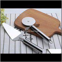 Other Knife Kitchen Knives Aessories Kitchen, Dining Bar Home & Garden Drop Delivery 2021 Cutter Wheel Pizza Shovel Sharp Slicer With Thumb P