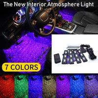 7 Farbwechsel Autoinnenraum-LED-Atmosphäre Dekorative Sprachmusik-Lichtlampe mit Fernbedienung Controller