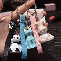 Ключные кольца мода стерео милый динозавр панда коала лиса много животных брелок мультфильм мобильный телефон сумка веселый кулон